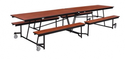 Mobile Cafeteria Tables with Benches