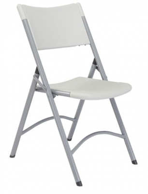 Blow Mold Folding Chair- Speckled Gray