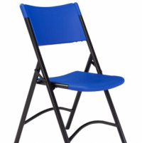 Blow Mold Folding Chair- Blue