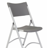Blow Mold Folding Chair- Charcoal Gray