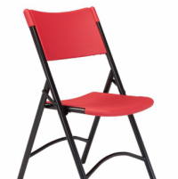 Blow Mold Folding Chair- Red