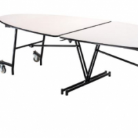 Elliptical Mobile Table